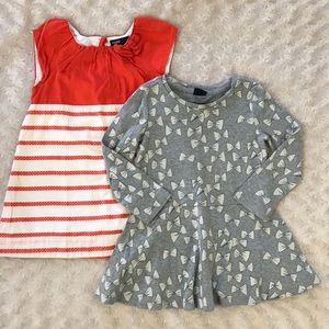 Baby Gap Dress Bundle Toddler Girl Stripes Bow